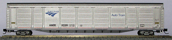 N Scale TriLevel Auto Carrier, Amtrak Phase 4b (with MT couplers) 01014765