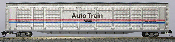 N Scale Tri-Level Auto Carrier, Amtrak Phase III (with MT couplers) 01-014759