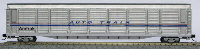 N Scale Tri-Level Auto Carrier, Amtrak Phase IV (with MT couplers) 01-014762