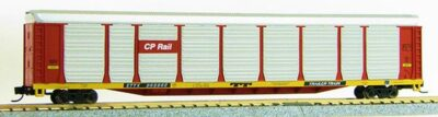 N Scale Tri-Level Auto Carrier, CP Rail (MT couplers) 1-14695