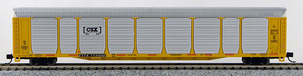 "N Scale Tri-Level Auto Carrier, CSX ""How Tomorrow Moves"" (MT couplers) 1-14756"