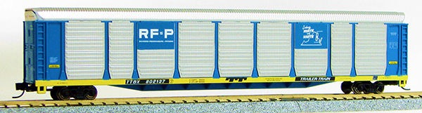 "N Scale Tri-Level Auto Carrier, ""RF&P "" (MT couplers) 1-14693"