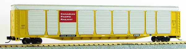 N Scale Tri-Level Auto Carrier,Canadian Pacific (MT couplers) 1-14698