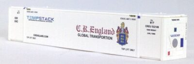 N 53 Ft TK/Reefer Container CR ENGLAND  White 2PK (02)