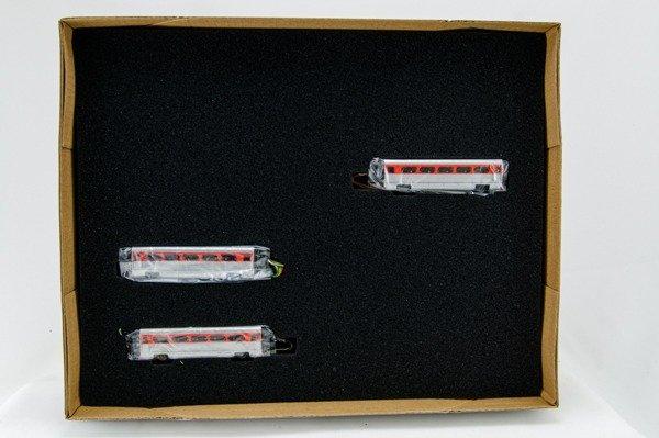 """N Aero Train 3-Coach Car """"Add-On"""" Set """"Santa Fe"""" San Diegan 1956"""