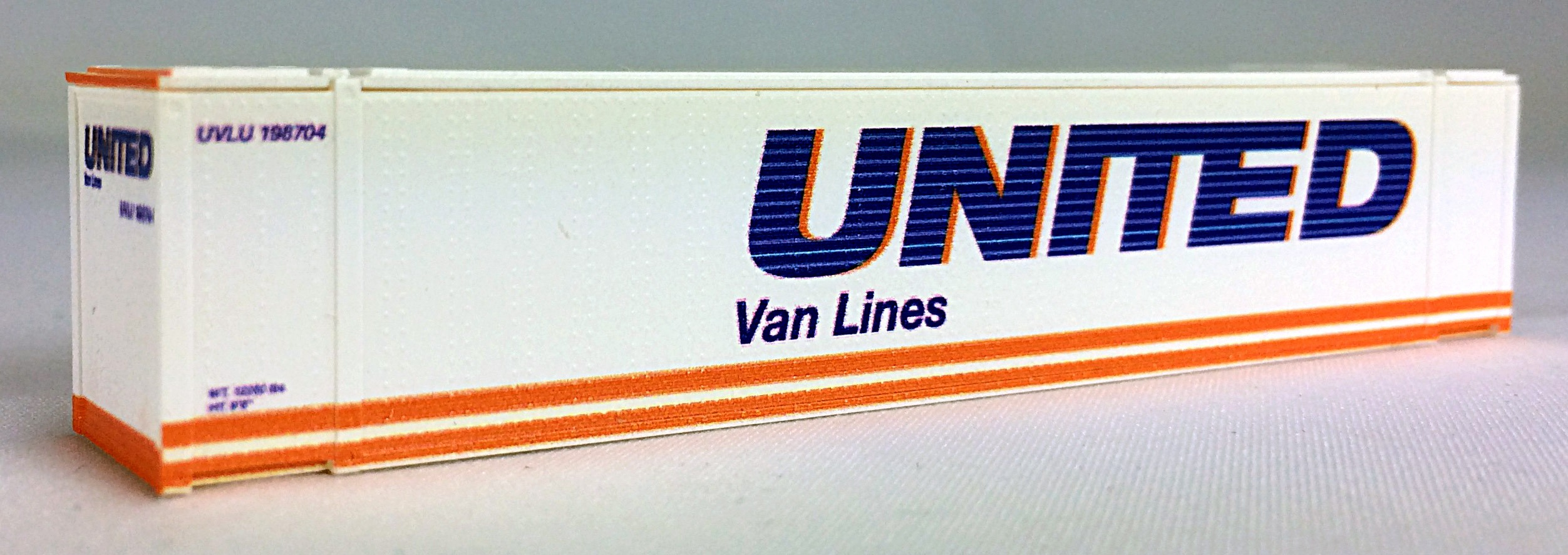 N 48 Ft Std Container UNITED VAN LINES (white) 2PK (02)