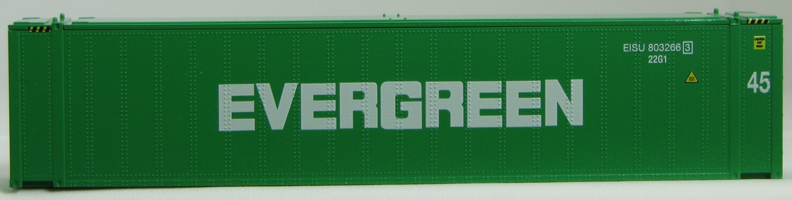 HO 45 Ft Std Container  EVERGREEN Green 2PK (01)