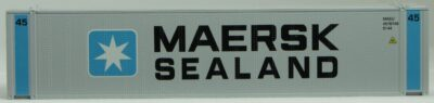 HO 45 Ft Std Container MAERSK-SEALand (gray) 2PK (01)