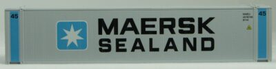 HO 45 Ft Std Container  MAERSK-SEALand (gray) 2PK (02)