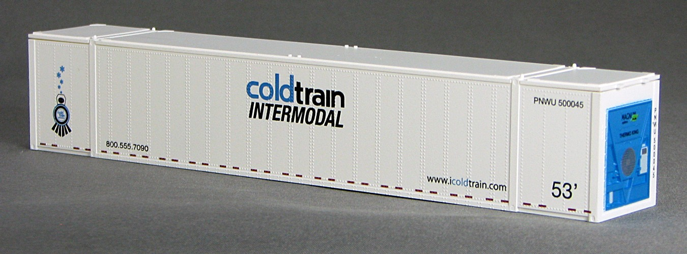 N 53 Ft TK/Reefer Container COLD TRAIN White) 2PK (02)