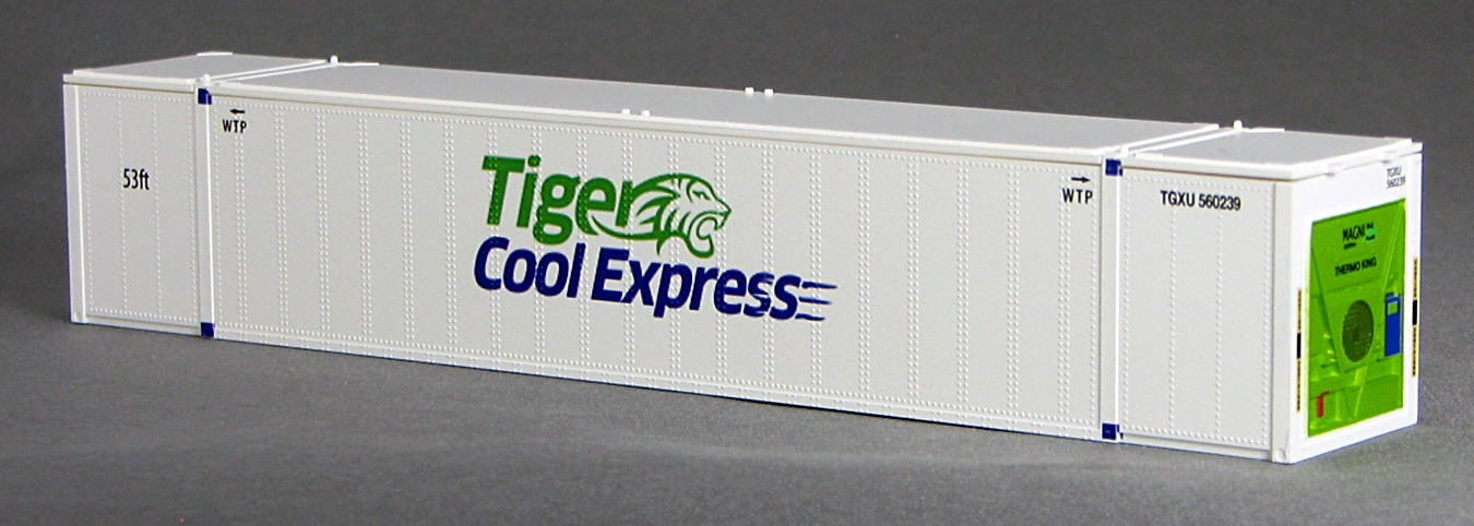 N 53 Ft TK/Reefer Container TIGER COOL  White 2PK (02)