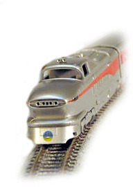 N Aero Train 4-Unit Set  Santa Fe (ran as San Diegan in 1956)