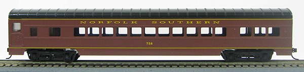HO 72 Ft Passenger Car Coach #752 Norfolk Southern (NS Tuscan Red) (1-000911)