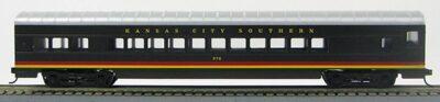 HO 72 Ft Passenger Car Coach #273 Kansas City Southern (Black w/stripes) (1-00900E)