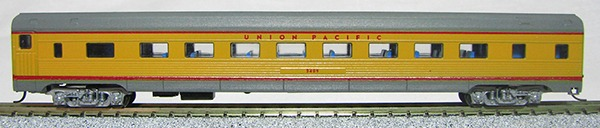 N Budd Union Pacific (2-tone Yellow Grey car)