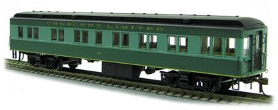 HO Southern Ry CRESCENT Solarium (2-tone Grn)