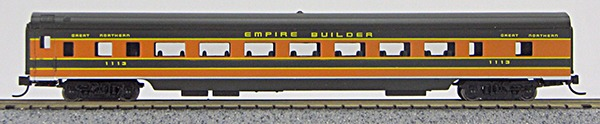N Con-Cor Smooth Side Passenger Cars Green Northern ÒEmpire Builder colorsÓ (1-40024)