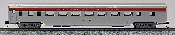N Con-Cor Smooth Side Passenger Cars Southern Pacific (San Joaquin-Silver) (1-40032)