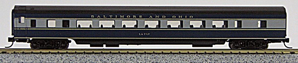 N Con-Cor Smooth Side Passenger Cars Baltimore & Ohio (Blue & Black) (1-40040)