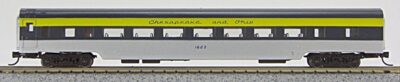 N Con-Cor Smooth Side Passenger Cars Chesapeake & Ohio (Blue & Grey & Silver) (1-40041)