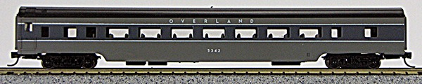 N Con-Cor Smooth Side Passenger Cars Union Pacific Overland ( 2 tone Grey) (1-40047)