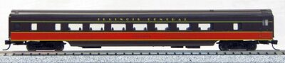 N Con-Cor Smooth Side Passenger Cars Illinois Central (Brown- Orange) (1-40049)