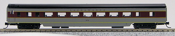 N Con-Cor Smooth Side Passenger Cars Lackawanna (Maroon & Grey) (1-40051)