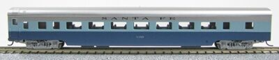 N Con-Cor Smooth Side Passenger Cars Santa Fe Blue Goose (Blue-Silver) (1-40052)