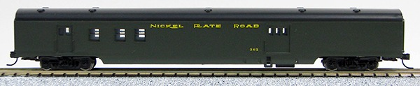 N Con-Cor Smooth Side Passenger Cars Nickel Plate Rd (Blue & Silver) Bag & RPO= Green **** (1-40043)