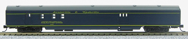 N Con-Cor Smooth Side Passenger Cars Louisville & Nashville (Blue & Grey) (1-40054)