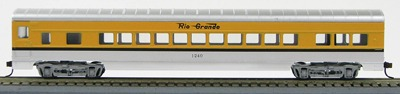 HO 72 Ft Passenger Car Coach #1240 Car Rio Grande (Orange-silver) (1-00900A)