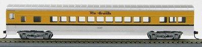 HO 72 Ft Passenger Car Coach #1240 Car Rio Grande (Orange-silver) (1-00900A)