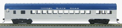 HO 72 Ft Passenger Car Coach #101 Nickel Plate Road (Silver-blue) (1-00900B)
