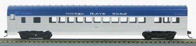 HO 72 Ft Passenger Car Coach #101 Nickel Plate Road (Silver-blue) (1-00900B)