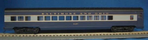 "HO 72 Ft Passenger Car Coach ""Gary"" Baltimore and Ohio (Blue)(1-00900C)"