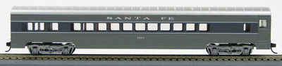 HO 72 Ft Passenger Car Coach #3064 Santa Fe Scout (Two-tone gray)(1-00900D)