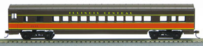 HO 72 Ft Passenger Car Coach #2616 Illinois Central (Brown-orange) (1-00900F)