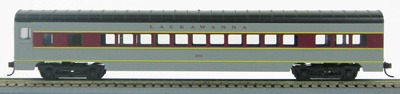 HO 72 Ft Passenger Car Coach #307 Lackawanna (Gray/maroon) (1-00900G)