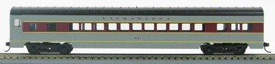 HO 72 Ft Passenger Car Coach #307 Lackawanna (Gray/maroon) (1-00900G)