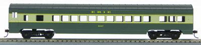 HO 72 Ft Passenger Car Coach #2657 Erie (Green/cream) (1-00900H)