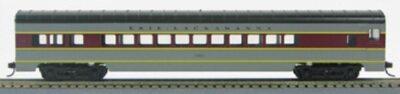 HO 72 Ft Passenger Car Coach #1321 Erie Lackawanna (Gray-maroon) (1-00900J)