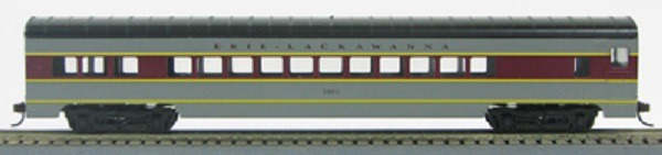 HO 72 Ft Passenger Car Coach #1321 Erie Lackawanna (Gray-maroon) (1-00900J)