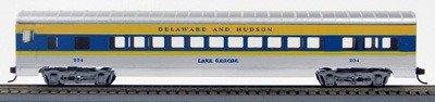 HO 72 Ft Passenger Car Coach #33 Delaware and Hudson (Silv/blue/yellow) (1-00900L)