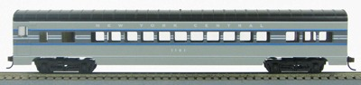 HO 72 Ft Passenger Car Coach #1100 New York Central 20th Century Limited (Two tone gray) (1-00900P)