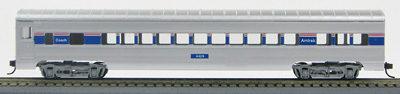 HO 72 Ft Passenger Car Coach #4428  Amtrak Phase 4 (Silver-Amtrak striping) (1-00900W)