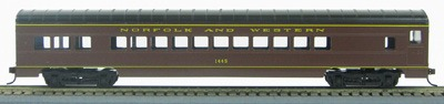 HO 72 Ft Passenger Car Coach #1445 Norfolk and Western (N&W Tuscan Red) (1-000907)