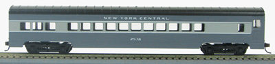 HO 72 Ft Passenger Car Coach #2572 New York Central (Two-tone gray) (1-000913)