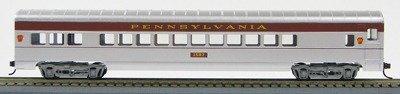 HO 72 Ft Passenger Car  Coach #1584 Pennsylvania (Senator) (Silver-Tuscan) (1-000917)