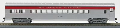 """HO 72 Ft Passenger Car Coach #2221 Southern Pacific """"San Joaquin"""" (Silver- red Letterboard) (1-000918)"""
