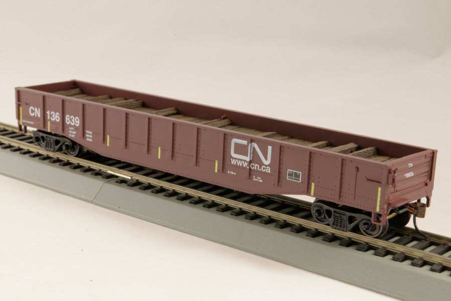 HO Gondola /with Resin Tie Full load Canadian National Railway - Brown (01)